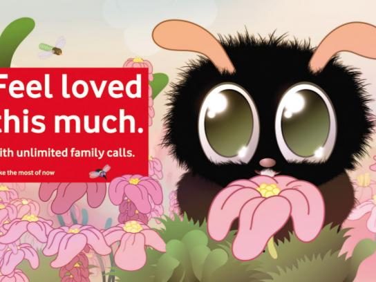 Vodafone Print Ad -  Feel loved this much