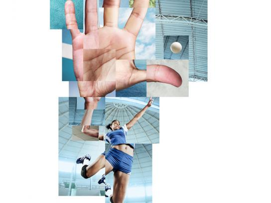 Movistar Print Ad -  Volleyball