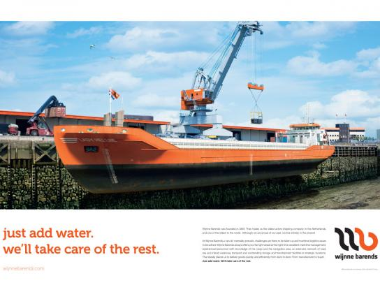 Wijnne Barends Print Ad -  Just add water, 1