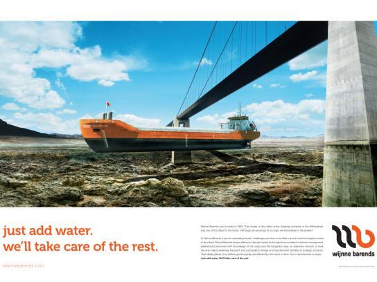 Wijnne Barends Print Ad -  Just add water, 2