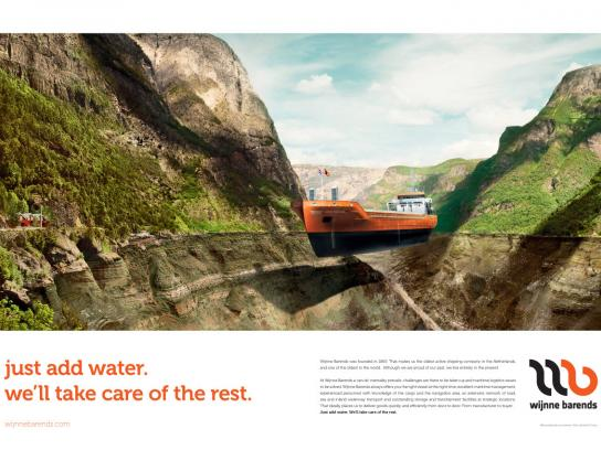 Wijnne Barends Print Ad -  Just add water, 4