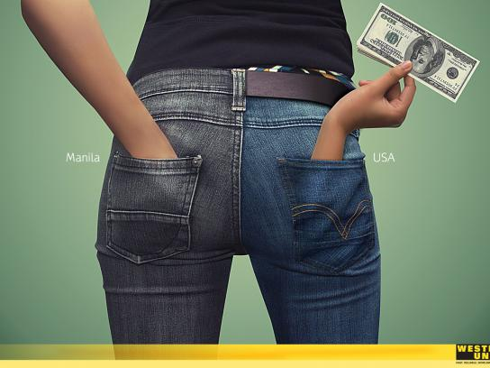 Western Union Print Ad -  Hands, Female