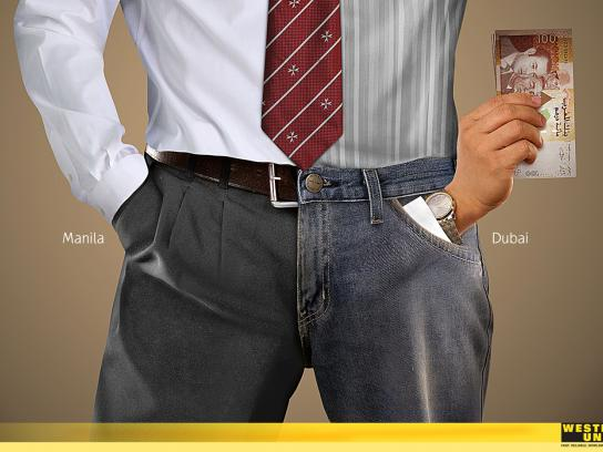Western Union Print Ad -  Hands, Male