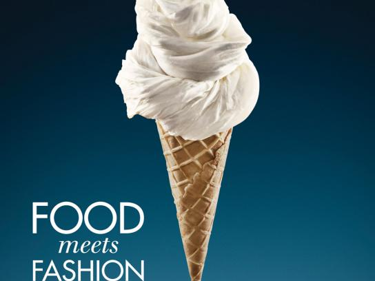 Waterfront Shopping Print Ad -  Ice cream