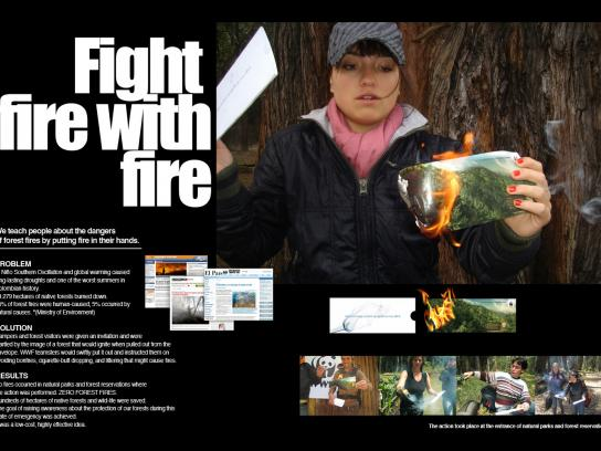 WWF Ambient Ad -  Forest Fire