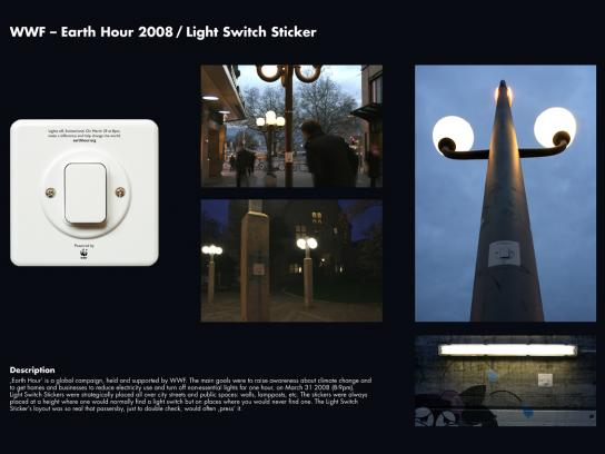 WWF Ambient Ad -  Light switch stickers