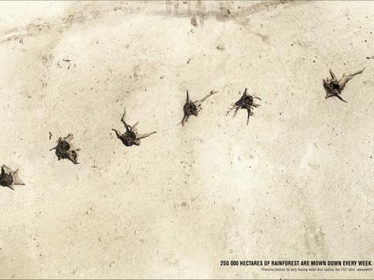 WWF Print Ad -  Massacre
