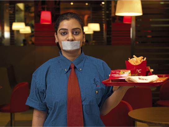 KFC Print Ad -  Waiter, 2