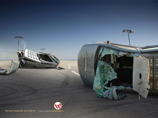 Wataniya Telecom Print Ad -  Crash
