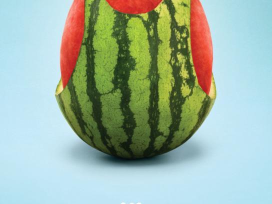 Calgary Farmers' Market Print Ad -  Watermelon
