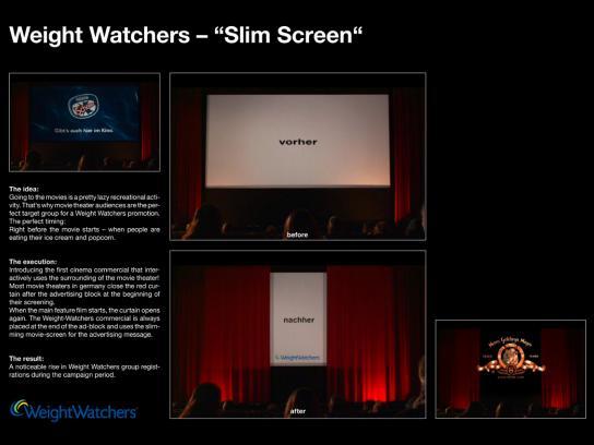Weight Watchers Ambient Ad -  Slim screen
