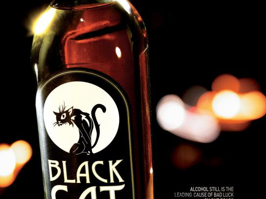 FERN Print Ad -  Black Cat Whisky
