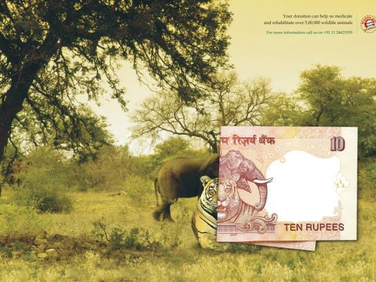 Wildlife SOS Print Ad -  Ten Rupees