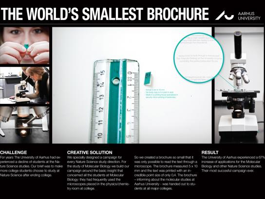 University of Aarhus Direct Ad -  The world's smallest brochure
