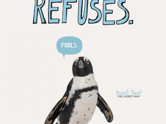 New England Aquarium Print Ad -  Mate for life