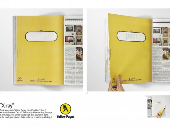 Yellow Pages Print Ad -  X-ray