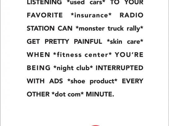 XM Satellite Radio Print Ad -  Commercials