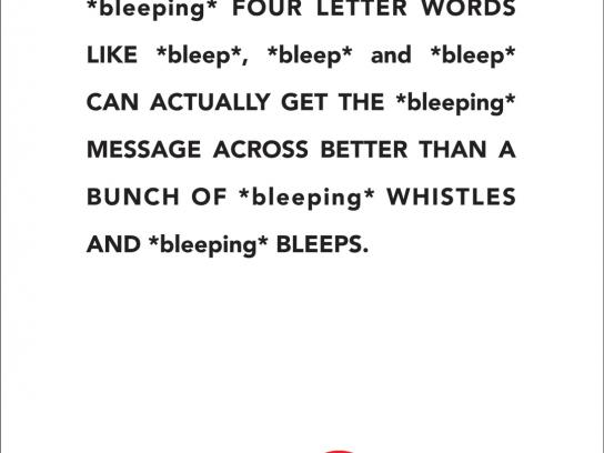XM Satellite Radio Print Ad -  Bleep