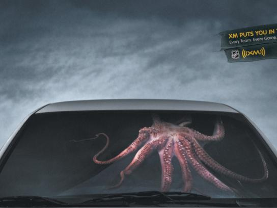 XM Satellite Radio Print Ad -  Octopus
