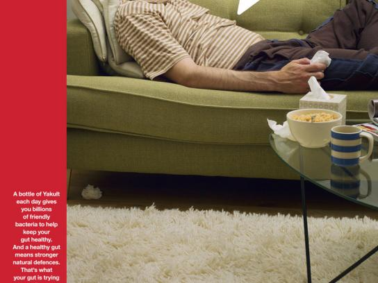 Yakult Print Ad -  Couch