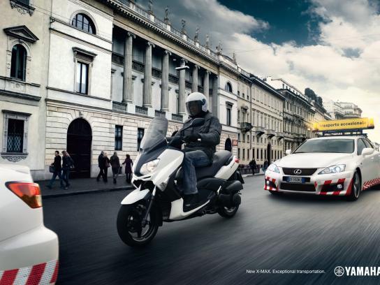 Yamaha Print Ad -  Exceptional transportation