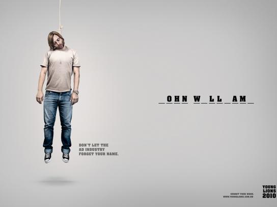 Young Lions Print Ad -  Hangman, 1