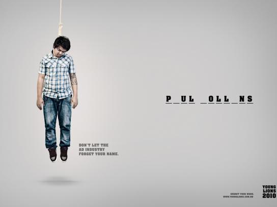 Young Lions Print Ad -  Hangman, 2