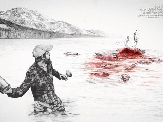 Surfrider Foundation Print Ad -  Fishs Hunter