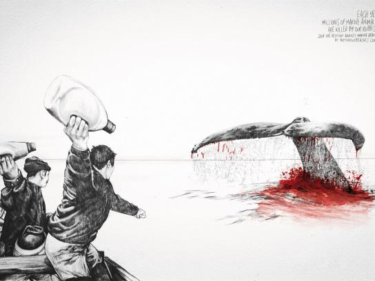 Surfrider Foundation Print Ad -  Whale Hunter