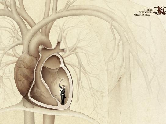 Zurich Chamber Orchestra Print Ad -  Heartbeat