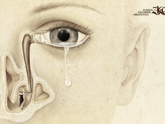 Zurich Chamber Orchestra Print Ad -  Teardrop