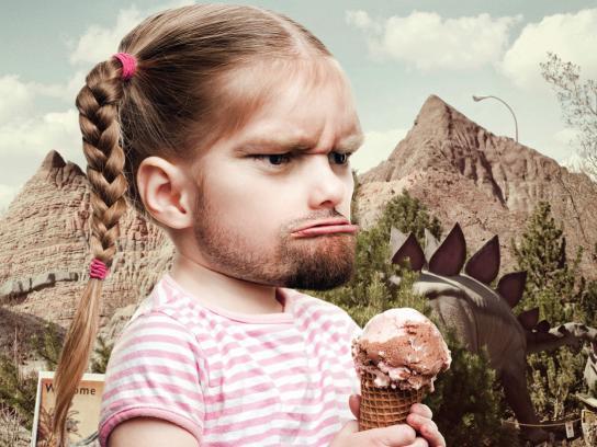 Calgary Zoo Print Ad -  Cavegirl