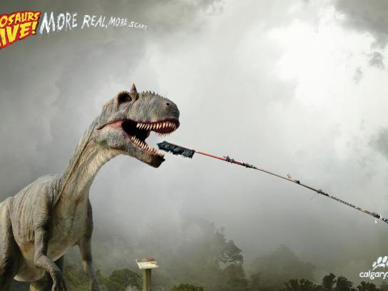 Calgary Zoo Print Ad -  Dino, 1