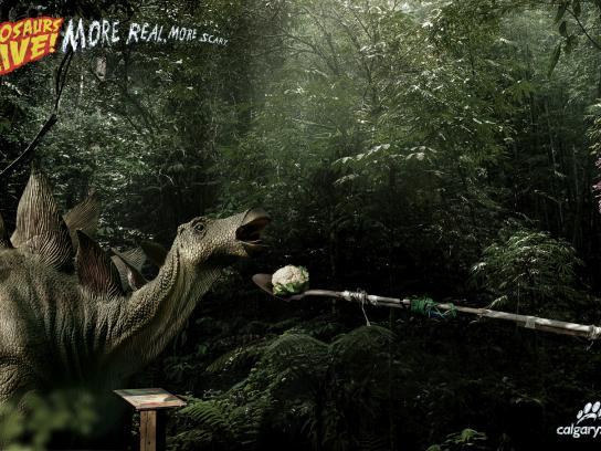 Calgary Zoo Print Ad -  Dino, 3