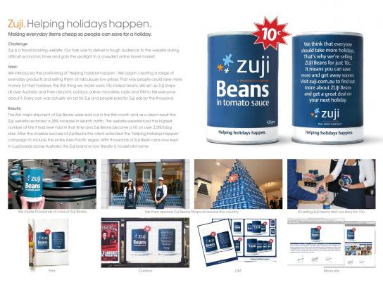 Zuji Ambient Ad -  Beans