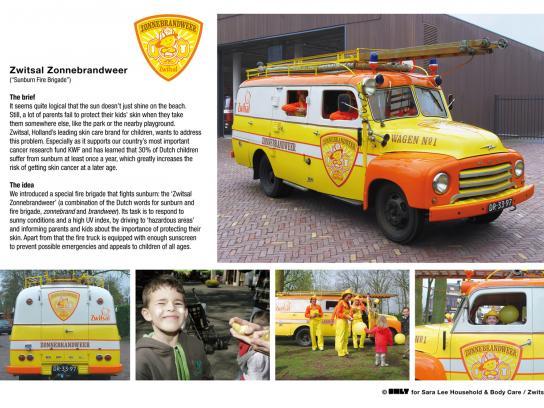 Zwitsal Ambient Ad -  Sunburn fire brigade