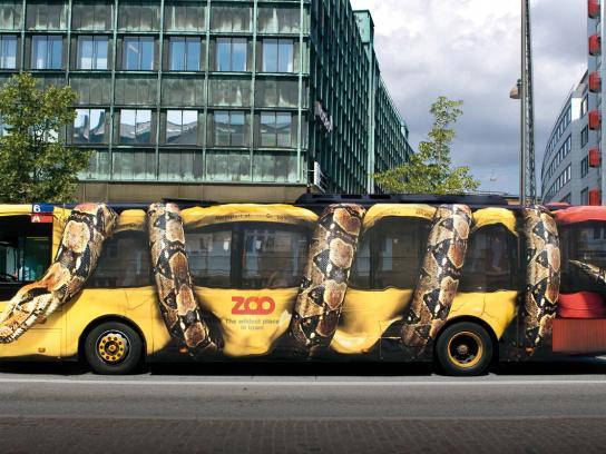 Copenhagen Zoo Ambient Ad -  Snake Bus