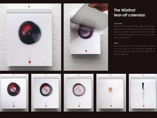 Wusthof Direct Ad -  Onion calendar