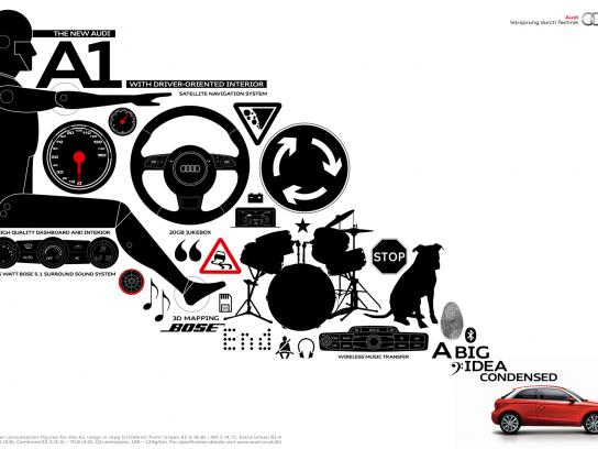 Audi Print Ad -  The big idea condensed, Interior