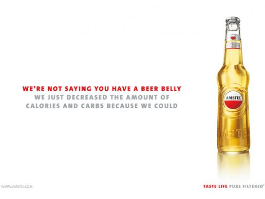 Amstel Print Ad -  Beer belly