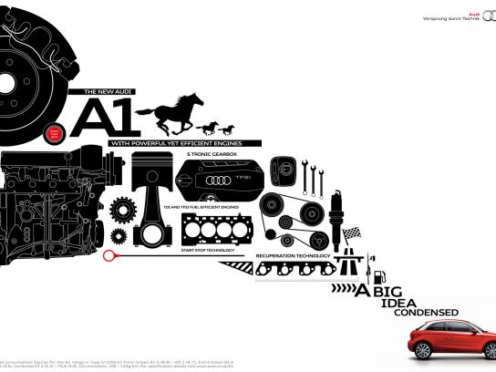 Audi Print Ad -  The big idea condensed, Engine