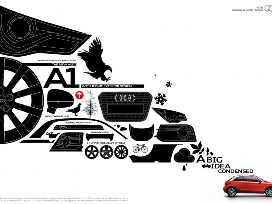 Audi Print Ad -  The big idea condensed, Exterior