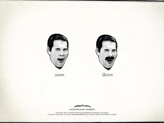 Moustaches Make A Difference Print Ad -  Freddie Mercury