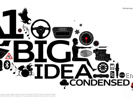Audi Print Ad -  The big idea condensed, Master