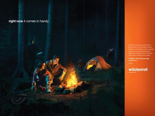 Wustenrot Print Ad -  Camping