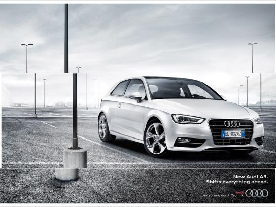 Audi Print Ad -  Shifts Everything Ahead