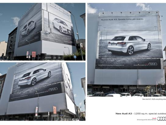 Audi Outdoor Ad -  Shifts Everything Ahead