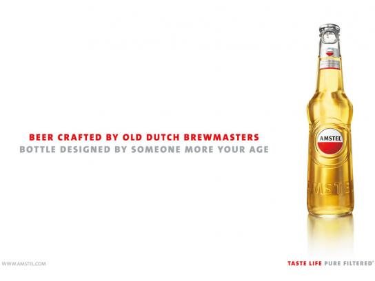 Amstel Print Ad -  Bottle design