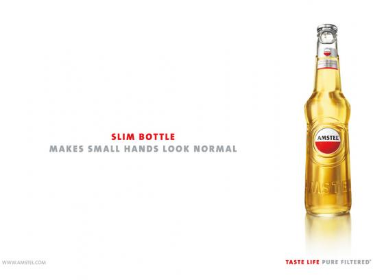 Amstel Print Ad -  Slim bottle