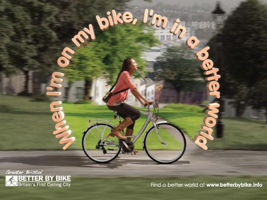 Better By Bike Print Ad -  Better World